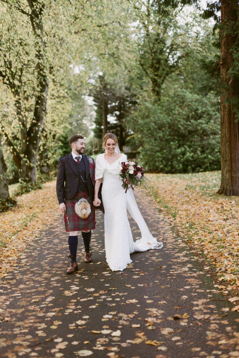 Elsick House Wedding Couple Photography