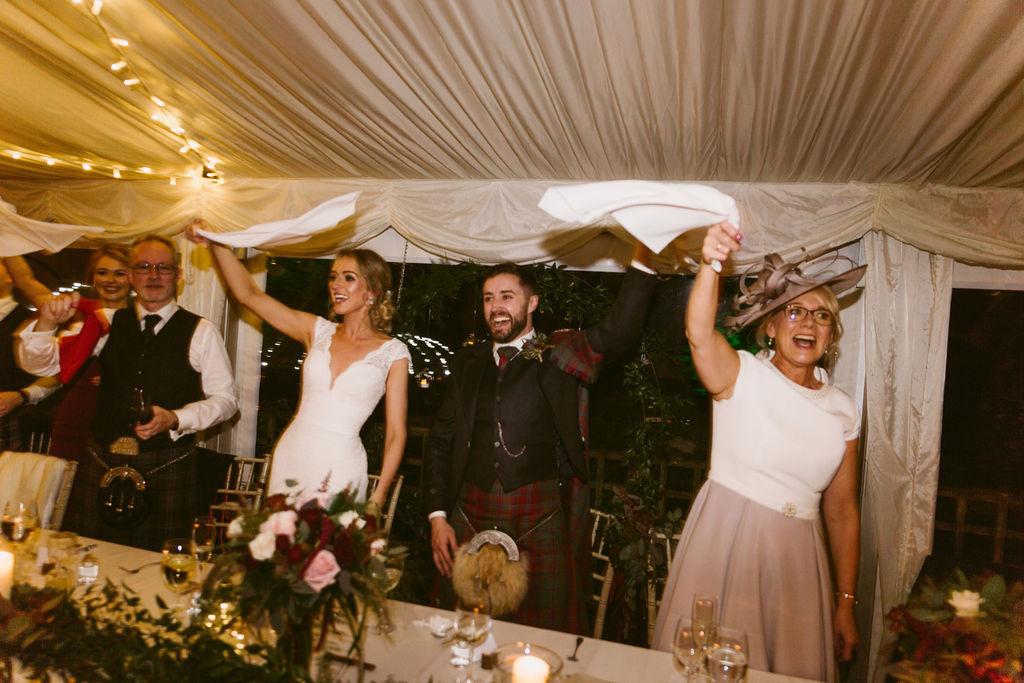Singers Secreto Singing Waiter Surprise Aberdeen | Elsick House Wedding by Ceranna Photography
