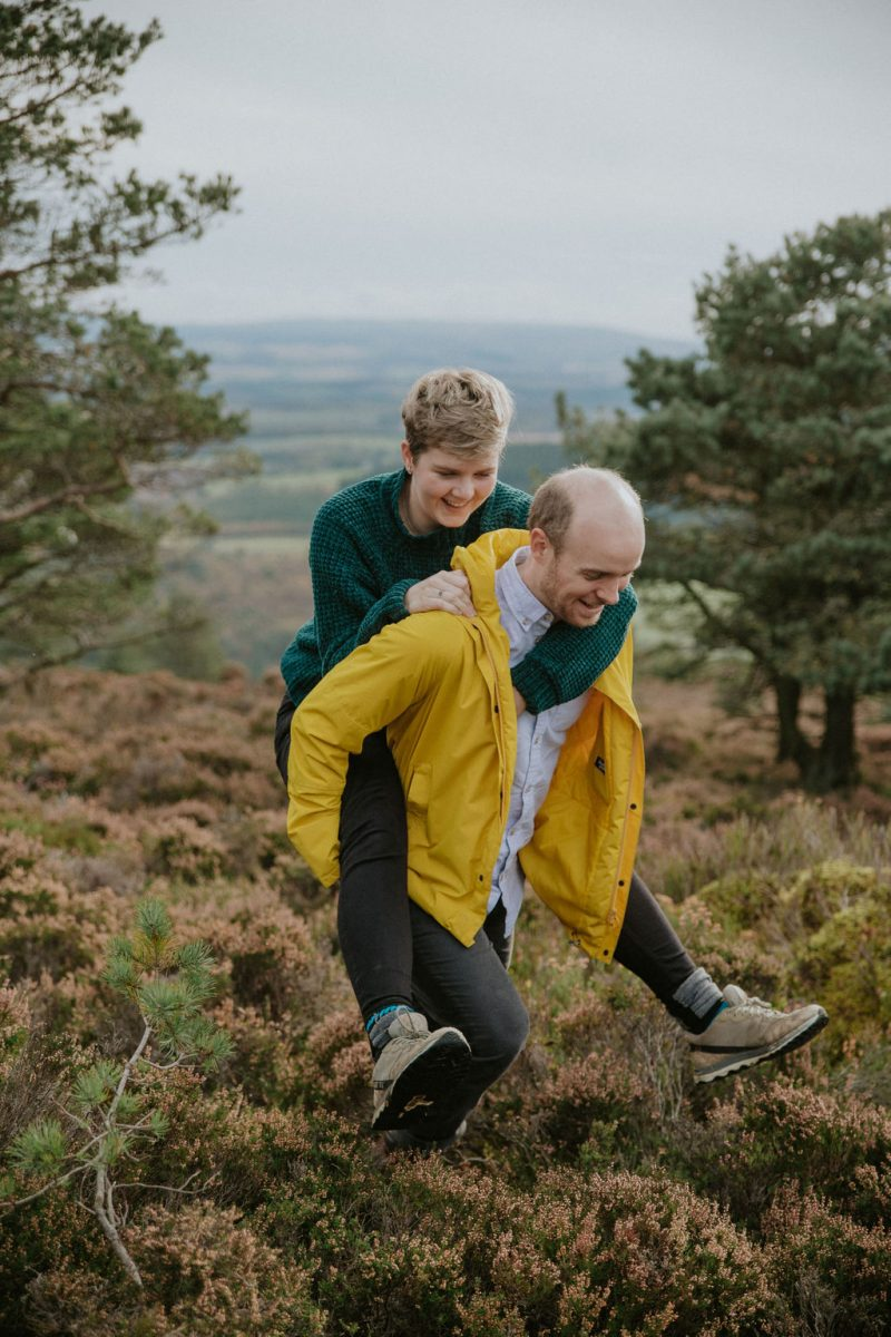 Fun Engagement Shoot in Scottish Highlands
