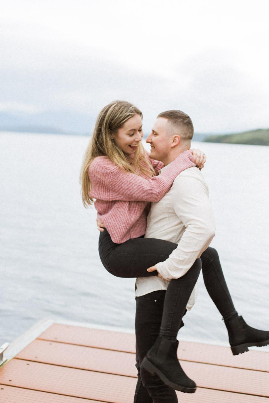Fun Scottish Engagement Couple Photoshoot