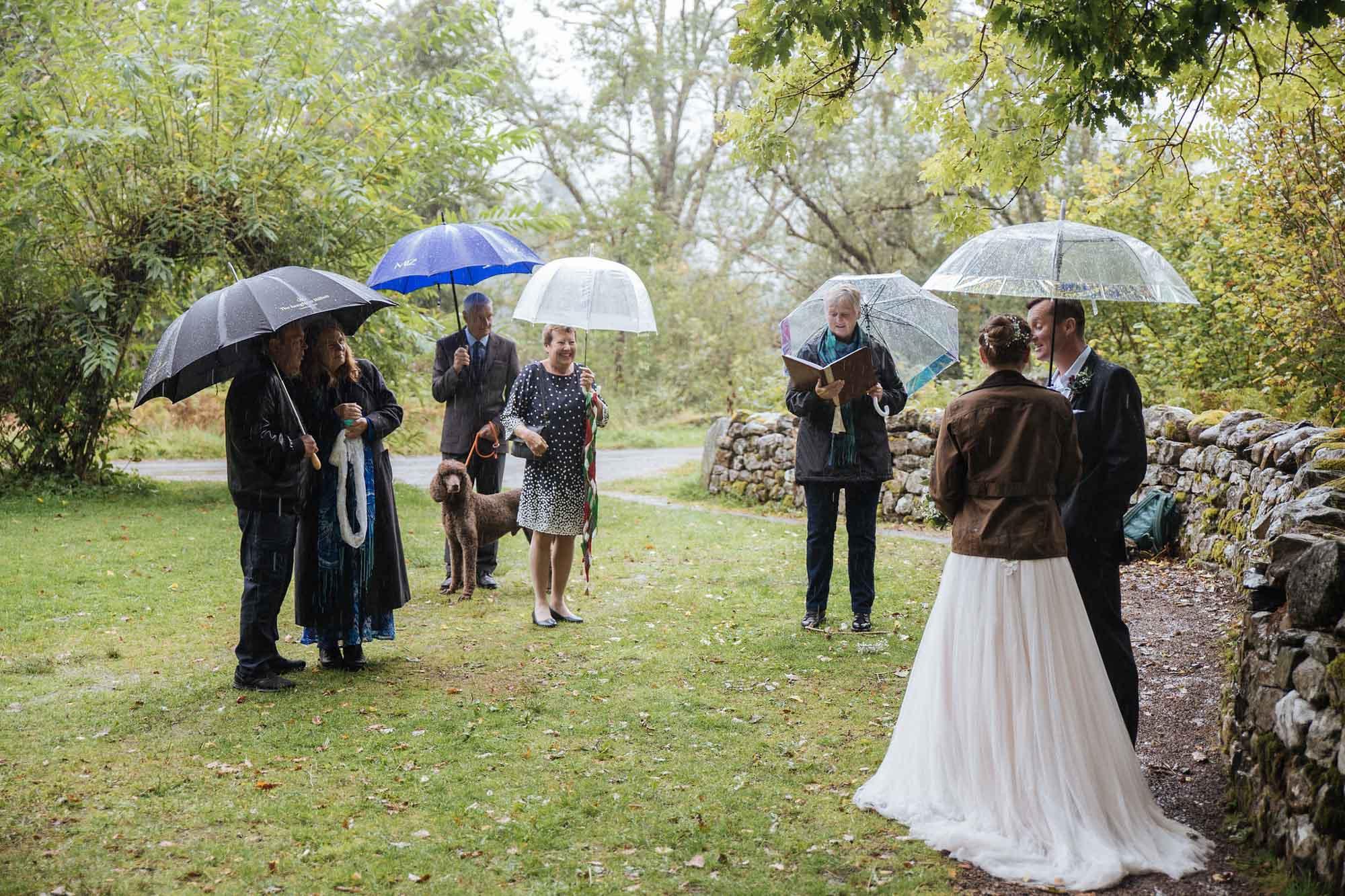 Scottish Humanist Wedding in Rain