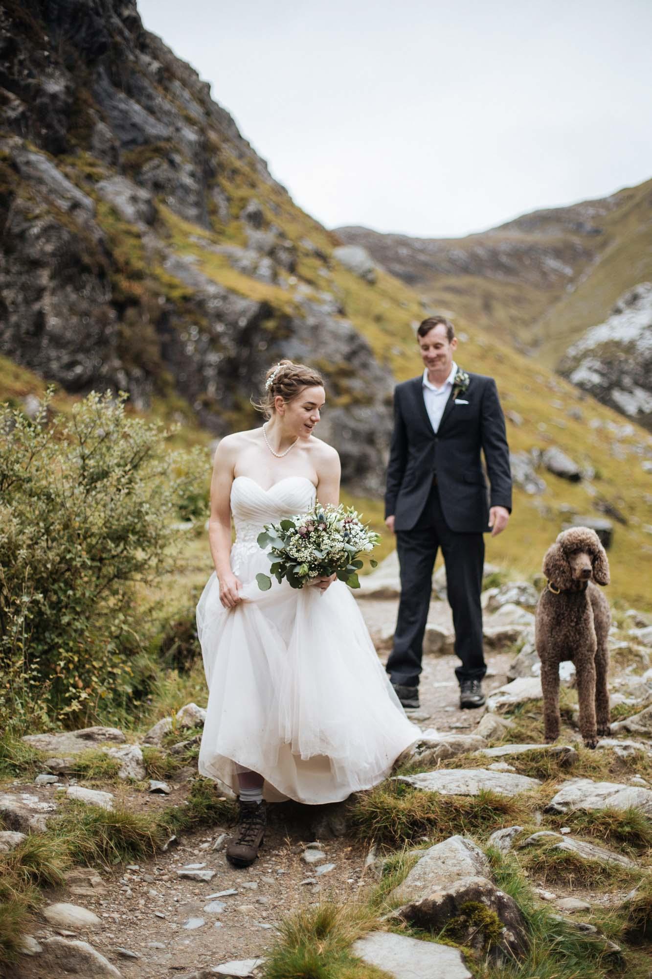 Scottish outdoor elopement