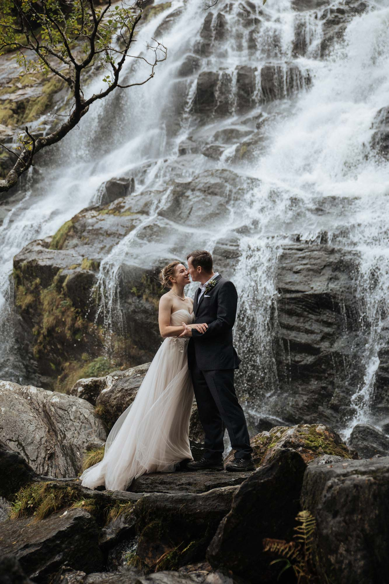 Waterfall Elopement in Scotland