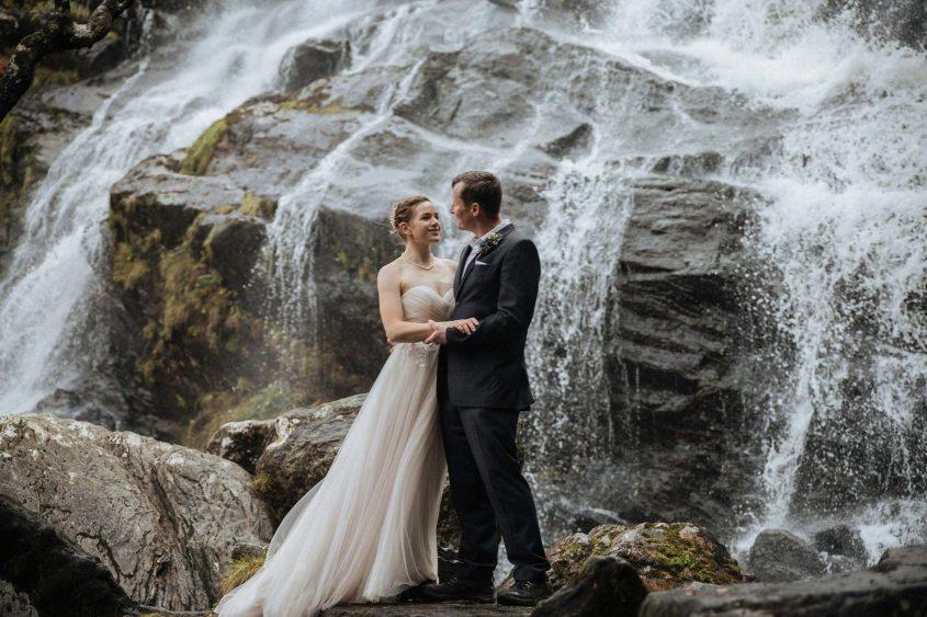Waterfall Wedding in Scotland
