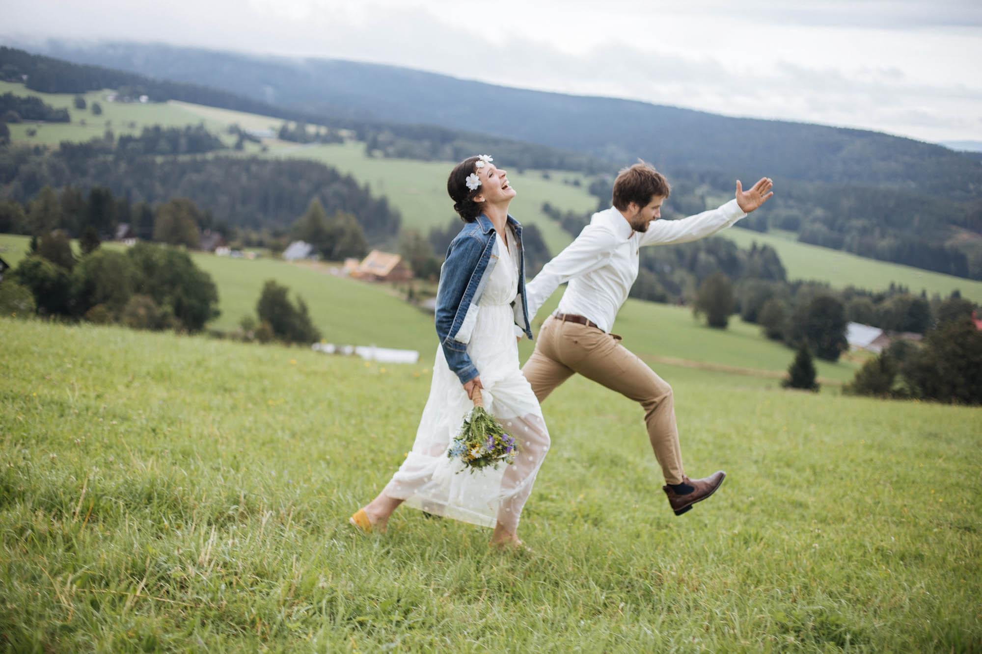 Letní svatba na horách
