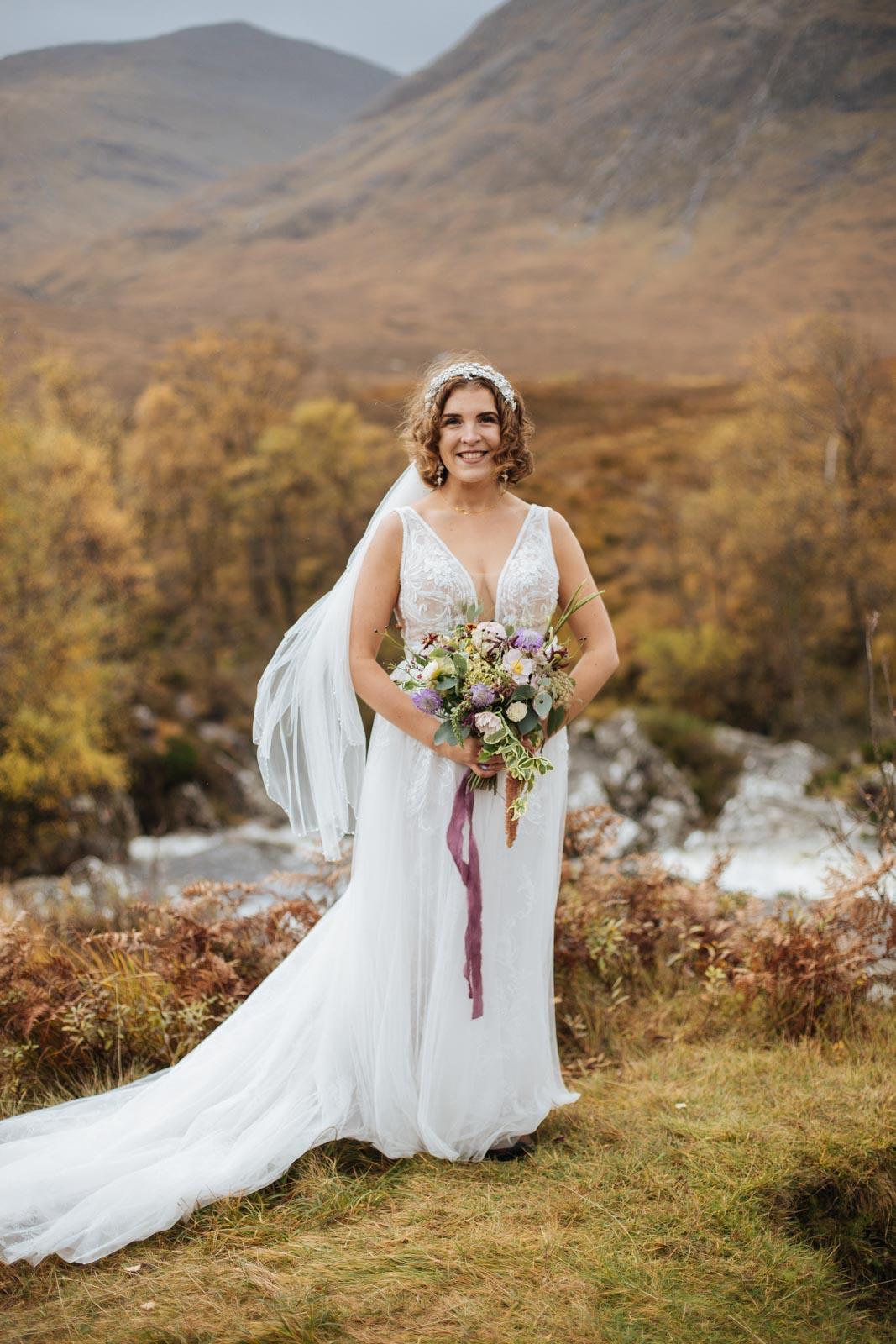 Maggie Sottero dress for Scottish elopmenet