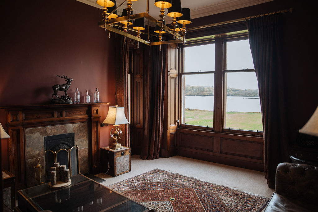 Shieldaig Lodge elopement indoors because of bad weather