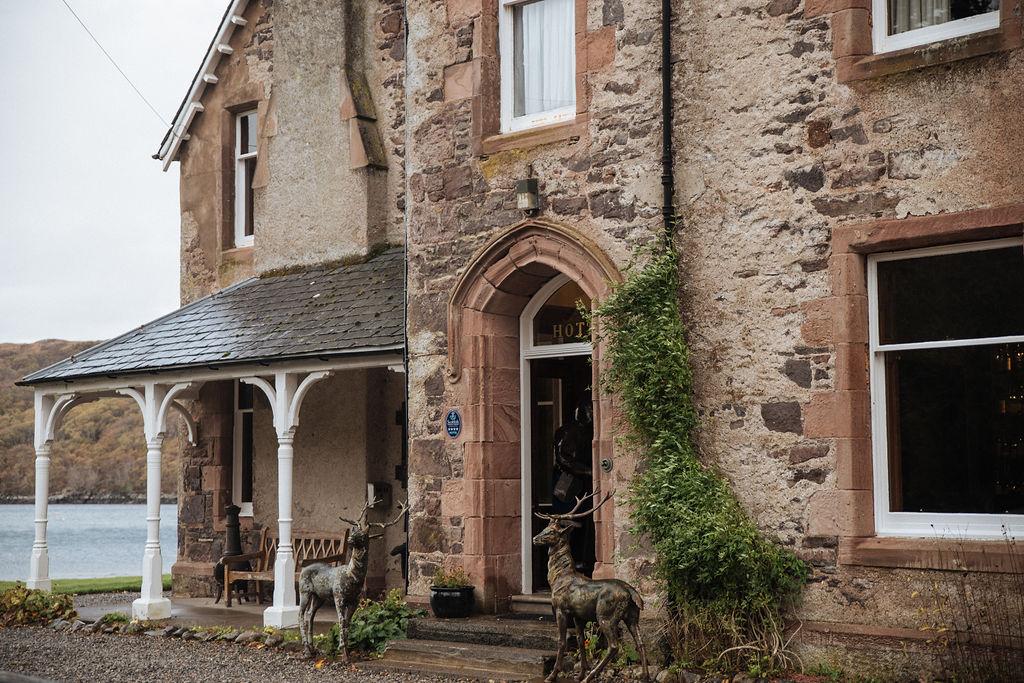 Shieldaig Lodge Hotel front door